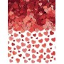 Red Sparkle Hearts Confetti