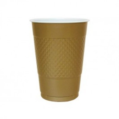 Gold Plastic Cups x 10