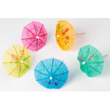 Cocktail Umbrella Parasols x12