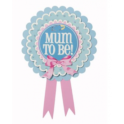Mum to be - Rosette Badge
