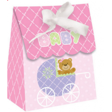 Baby Shower Party Favour Bags (Pink Teddy Bear) x 6