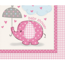 Baby Shower Pink Elephant Napkins