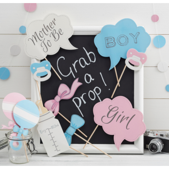 Photo Booth Props   Baby Shower (10 Pcs)