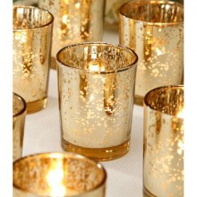 Speckle Gold Candle Holder