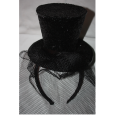 Sparkle Mini Top Hat (black)