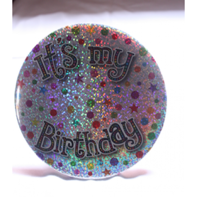 Its My Birthday Badge (Silver)