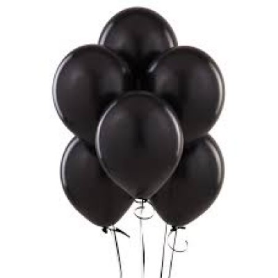 Balloons latex black x10