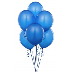 Balloons latex blue x10