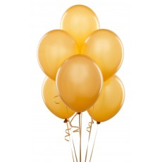 Balloons latex Gold x 10
