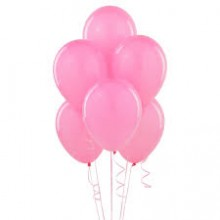Balloons latex pink x10