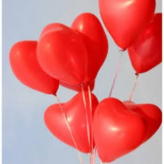 Balloons latex Red Heart x10