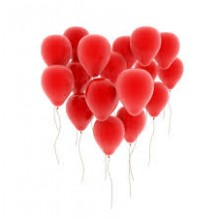 Balloons latex red x10