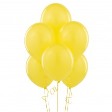 Balloons latex yellow x10
