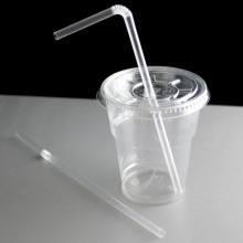 Plastic Flexible Straws (Clear) x25