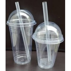 Plastic Smoothie Straws (Clear) x25