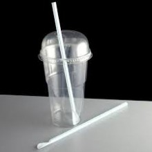 Plastic Spoon Straws (Clear) x25