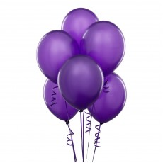 Balloons latex purple x10
