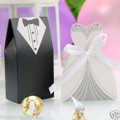 Dress and Tuxedo favor boxes