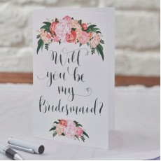 Will You Be My Bridesmaid - floral