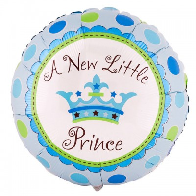 Baby Shower 'A New Little Prince' Helium Balloon (Blue)