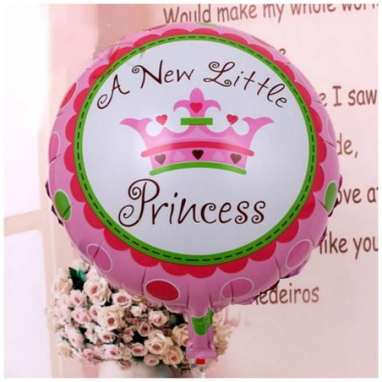 Baby Shower A New Little Princess Helium Balloon Pink