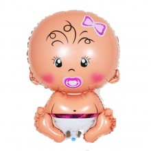 Baby Shower Baby Girl Helium Balloon (Pink)