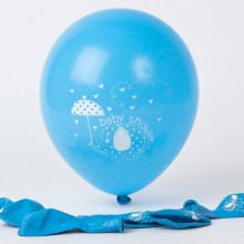 Baby Shower Balloons - Elephant x6 (blue)