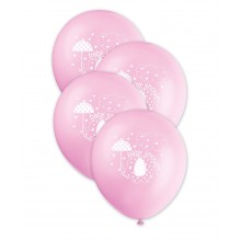 Baby Shower Balloons - Elephant x6 (pink)