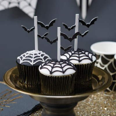 Halloween Bat Cupcake Toppers x10