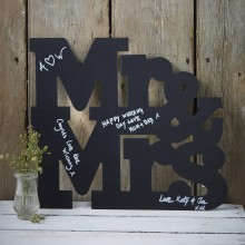 Mr & Mrs - Chalkboard Signage