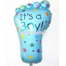 Baby Shower 'Baby Boy Foot' Helium Balloon (Blue)