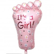 Baby Shower 'Baby Girl Foot' Helium Balloon (Pink)