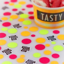 Neon Happy Birthday Table Confetti