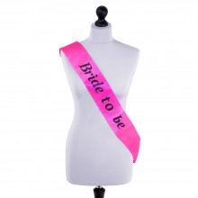 'Bride to Be' Sash (Neon pink)