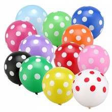 Polka Dot Balloons Mixed x5