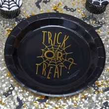 Halloween Trick Or Treat Party Plates x4