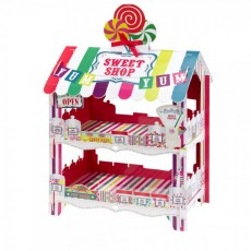 Candy Sweet Shop Stand (2 Tier) -Multi