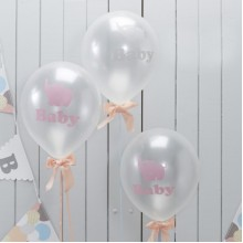 Baby Shower Balloons  - Elephant x10