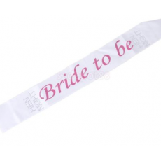 'Bride to Be' Sash (white)
