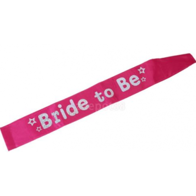 'Bride to Be' Sash (pink)