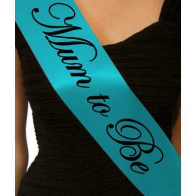'Mum to Be' sash (baby blue)