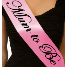 'Mum to Be' sash (pink)