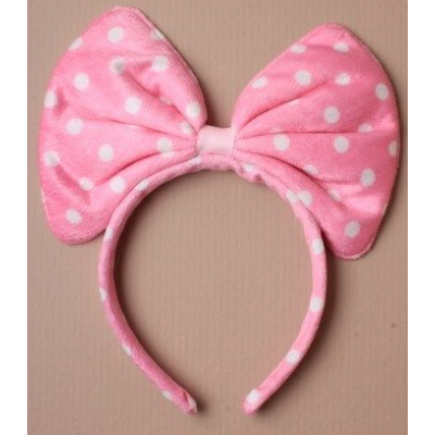 Large Bow Alice Band (pink)