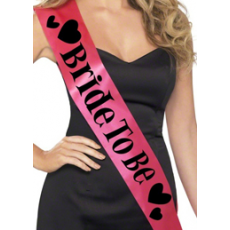 'Bride to Be' Sash - (Deep pink)