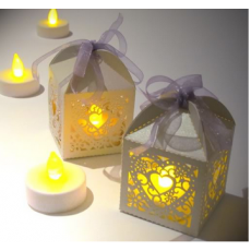 White Pearlised Lanterns x2
