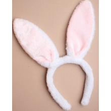 Fur Bunny Ears (Pink&White)