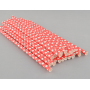 Paper Straws - Red Polka Dot x25