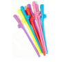 Rainbow Willy Straws x6