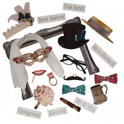 Photo Booth Props - Wedding Accessories (20pcs)