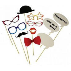 Photo Booth Props - Fancy Dress Accessories (12pcs)